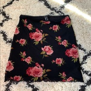 Forever 21 Floral mini skirt Size Small